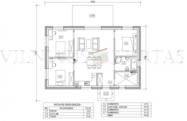 Trakų r. sav., Senojo Tarpupio k., 79 m², 15 a, 56 000 €