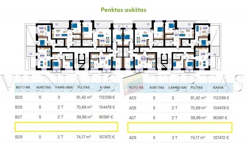 Vilniaus m. sav., Pilaitė, Gilužio g., 49 m², 70 183 €