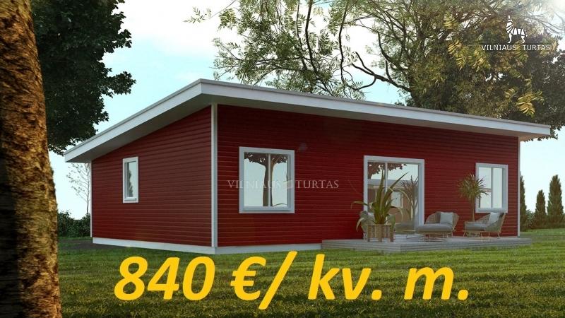Vilniaus r. sav., Šventininkų k., 80 m², 14 a, 85 200 €