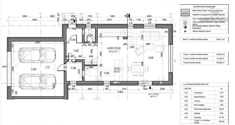 Vilniaus m. sav., Gineitiškės, 153 m², 5 a, 154 000 €
