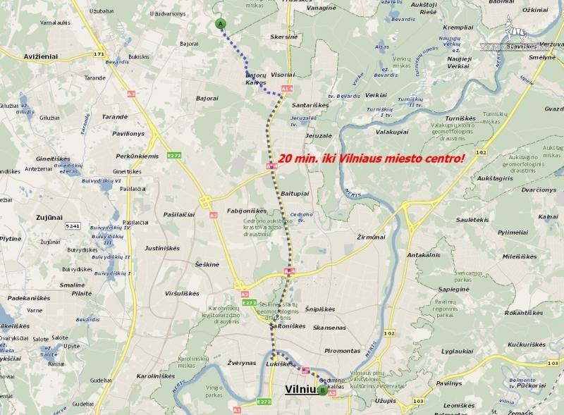 Vilniaus r. sav., Bajorų k., 17 a, 25 000 €