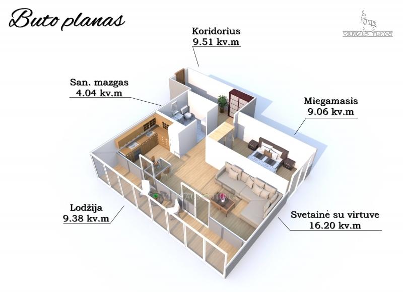 Vilniaus m. sav., Pašilaičiai, Leičių g., 53 m², 60 000 €