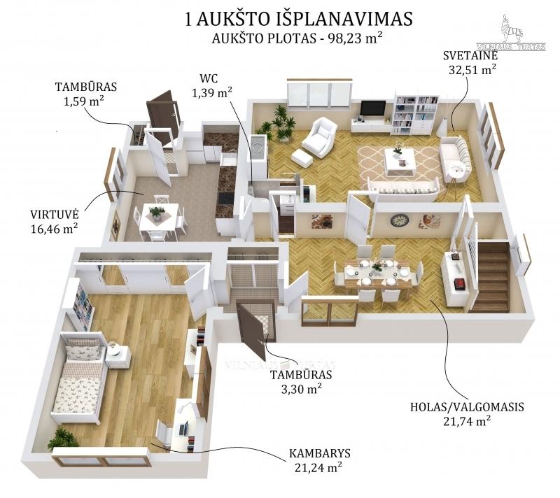 Vilniaus m. sav., Salininkai, Molynės g., 273 m², 15 a, 139 500 €