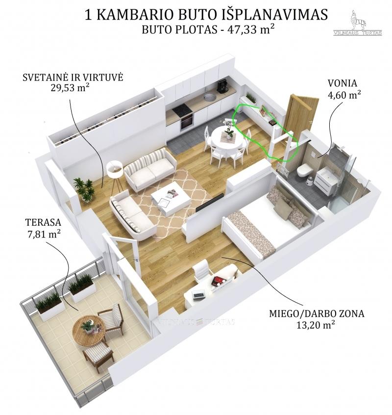 Parduodamas butas Santariškės Santariškių g. (Vilnius) skelbimo nuotrauka